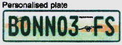 Personalized number plate Free state