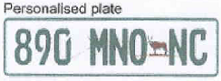 Personalized number plates Northen Cape