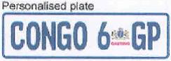 Personalized numberplate Gauteng